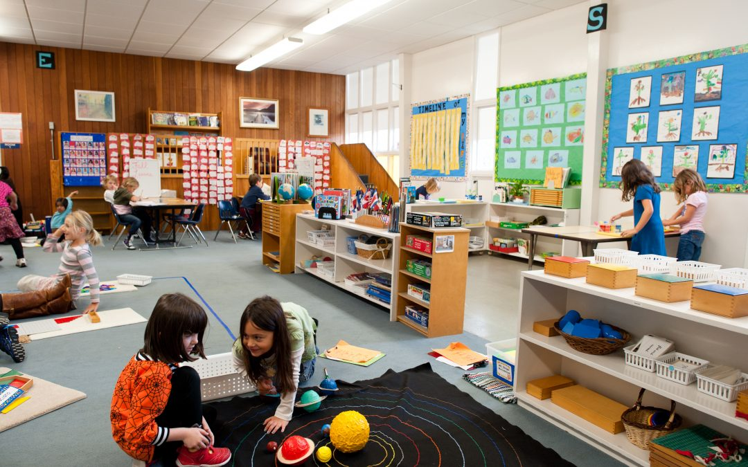 Os ciclos de trabalho em ambiente Montessori